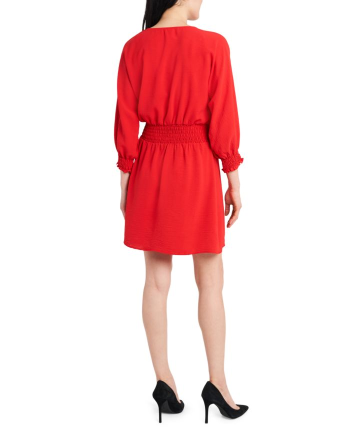 MSK Smocked Fit & Flare Dress & Reviews - Dresses - Women - Macy's