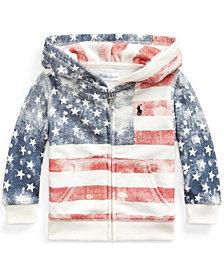 Ralph Lauren Baby Girls Flag Full-Zip Hoodie