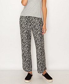 COIN 1804 Women's Zebra French Terry Vent Hem Pocket Pant