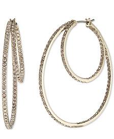 Givenchy Pavé Double Hoop Earrings