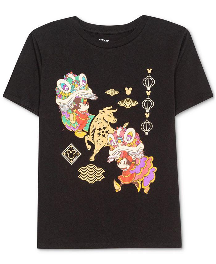 Disney - Juniors' Mickey & Minnie Mouse Parade T-Shirt