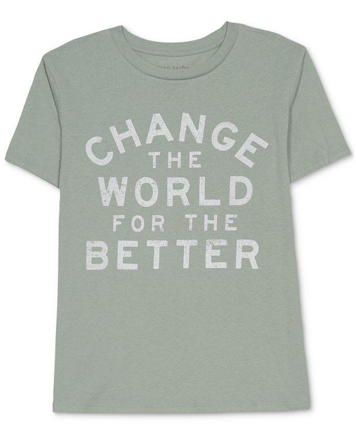 Love Tribe - Juniors' Change The World T-Shirt