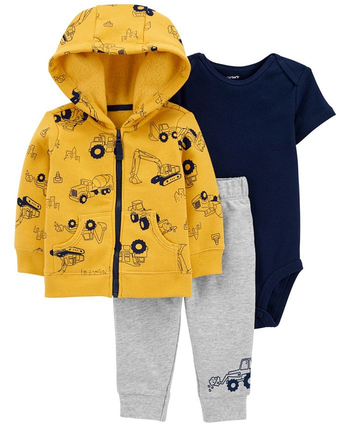 Carter's - Carters Baby Boy 3-Piece Construction Little Jacket Set