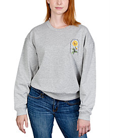 Rebellious One Juniors' Floral Graphic Sweatshirt