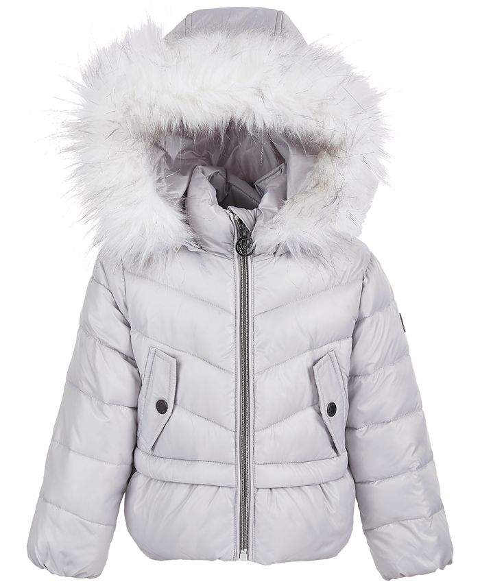 Michael Kors - Toddler Girls Peplum Puffer Coat