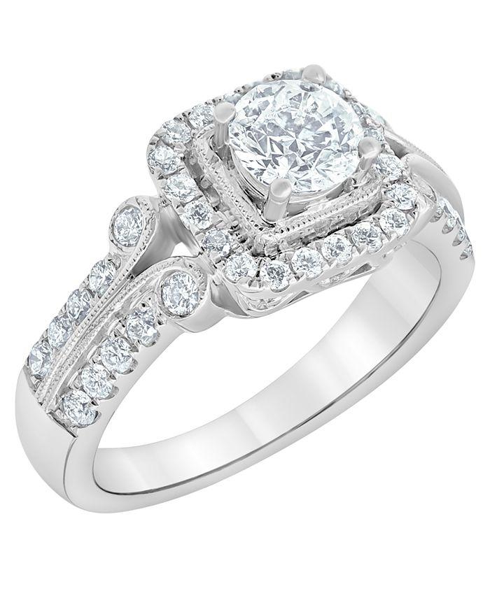 Macy's - Diamond Engagement Ring (1 1/4 ct. t.w.) in 14k White Gold