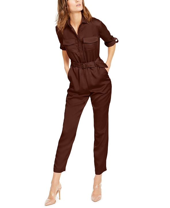 INC International Concepts INC Button-Front Jumpsuit, Created for Macy's