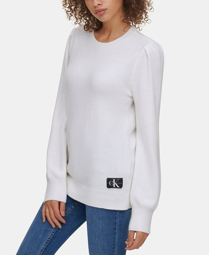 Calvin Klein Jeans - Crew-Neck Puffed-Shoulder Sweater