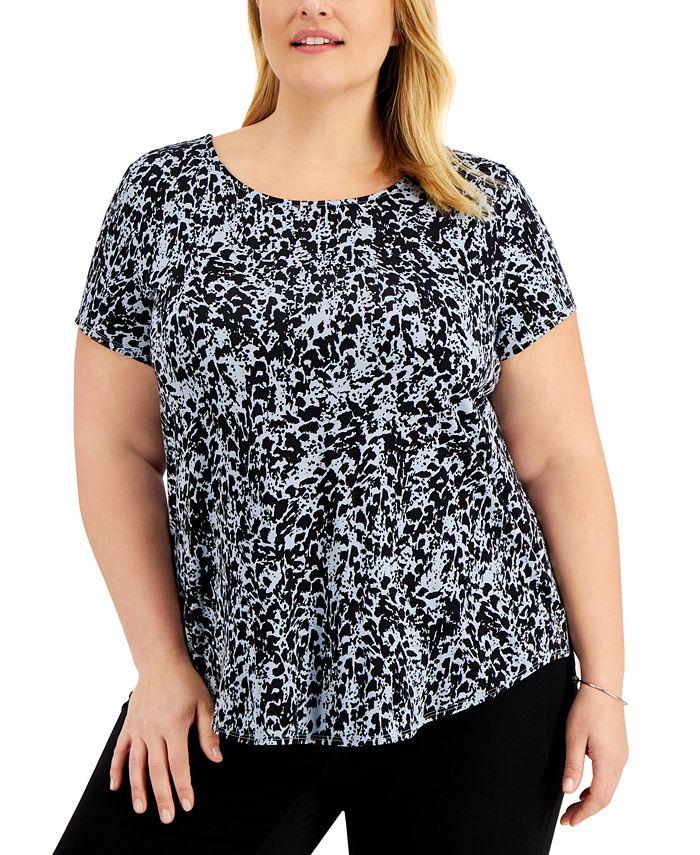 Alfani - Plus Size Printed T-Shirt