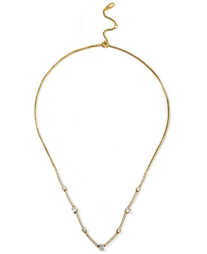 """Eliot Danori - Cubic Zirconia Bar Statement Necklace, 16"""" + 2"""" extender"""