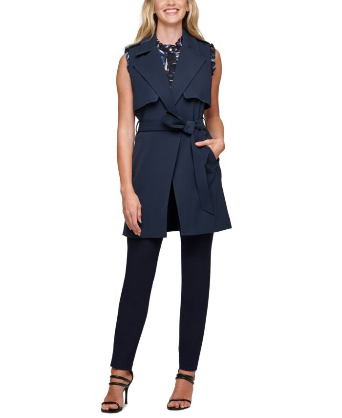 DKNY Belted Vest & Reviews - Jackets & Blazers - Women - Macy's