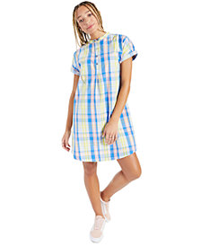 Style & Co Cotton Plaid Shirtdress, Created for Macy's
