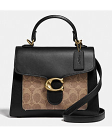 COACH Tabby Top Handle 20 In Signature Coated Canvas