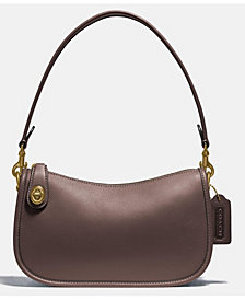 COACH Leather Swinger Shoulder Bag