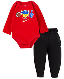 Nike Baby Boys Emoji Bodysuit Pant Set