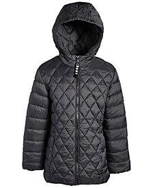 DKNY Big Girls Engineered Quilted Packable Jacket