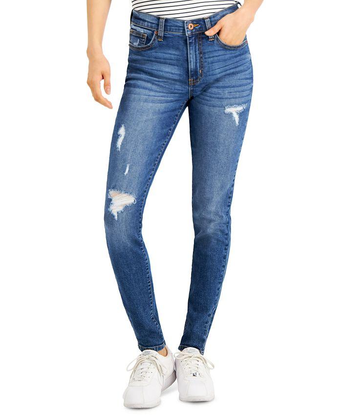 Celebrity Pink - Juniors' Distressed Skinny Jeans