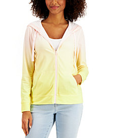 Style & Co Ombré Zip Hoodie, Created for Macy's
