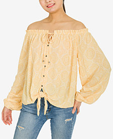 Hippie Rose Juniors' Off-The-Shoulder Top