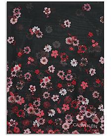 Calvin Klein Ditsy Floral Wrap Scarf