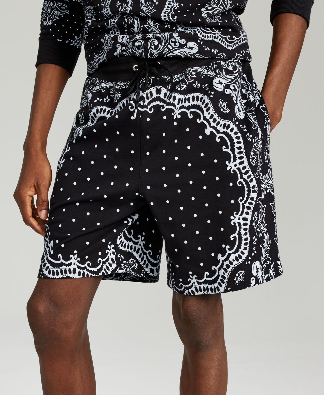 INC International Concepts INC Men's Bandana Terry Shorts, Created for Macy's & Reviews - Shorts - Men - Macy's