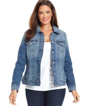 Levi's Plus Size Denim Jacket, Saddle Blue Wash
