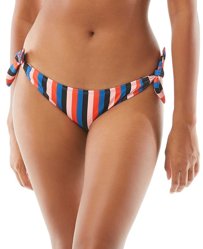kate spade new york - Striped Bunny-Tie Bikini Bottom