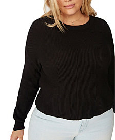 Cotton On Trendy Plus Size Crop Pullover Sweater