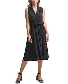 Calvin Klein V-Neck Midi Dress