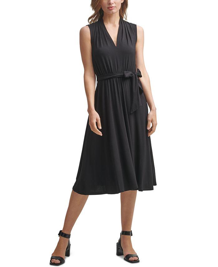 Calvin Klein - V-Neck Midi Dress