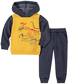 Kids Headquarters Toddler Boys 2-Piece Boys Dinos Fleece Hoody with Fleece Pant Set