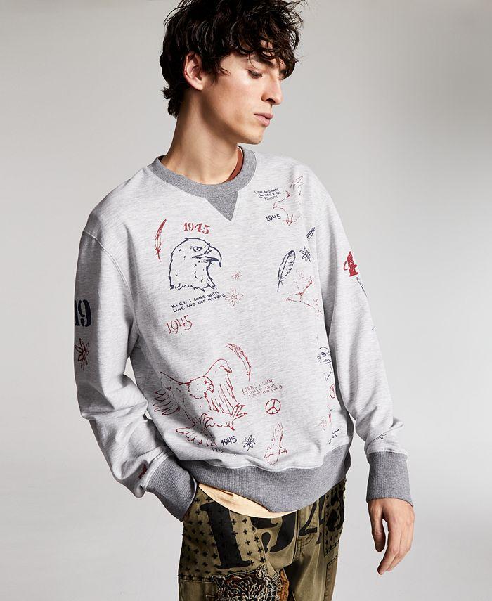 Sun + Stone - Men's Graphic French Terry Sweatshirt