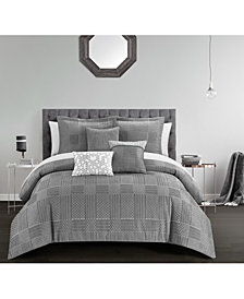 Chic Home Jodie Bed in a Bag 10 Piece Comforter Set, Queen