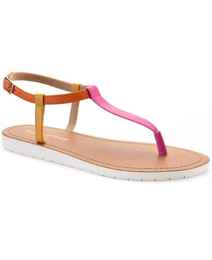 Sun + Stone - Kristi T-Strap Flat Sandals
