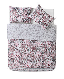 VCNY Home Rhodes Origami Reversible Paisley 3 Piece Comforter Set, King