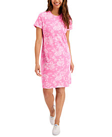 Karen Scott Tiole Floral Dress, Created for Macy's