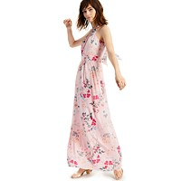 Deals on INC Floral-Print Halter-Style Midi Dress