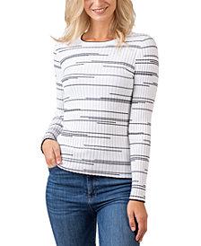 Belldini Black Label Variegated Stripe Long Sleeve Sweater