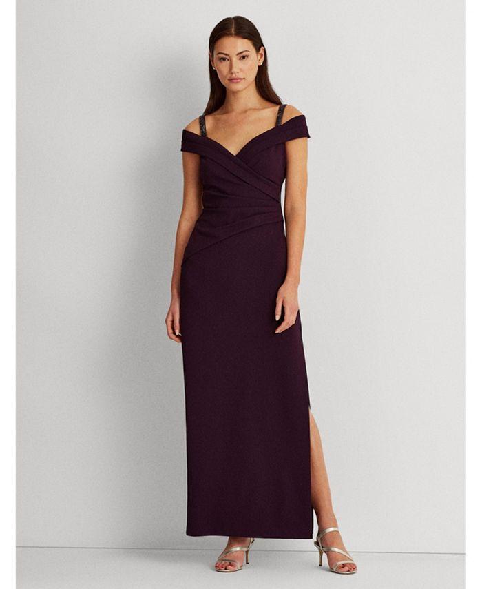 Lauren Ralph Lauren - Ruched Off-The-Shoulder Gown