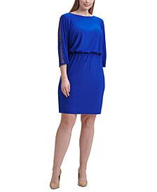 Jessica Howard Plus Size Blouson-Top Dress