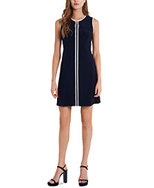 MSK Zip-Front Shift Dress