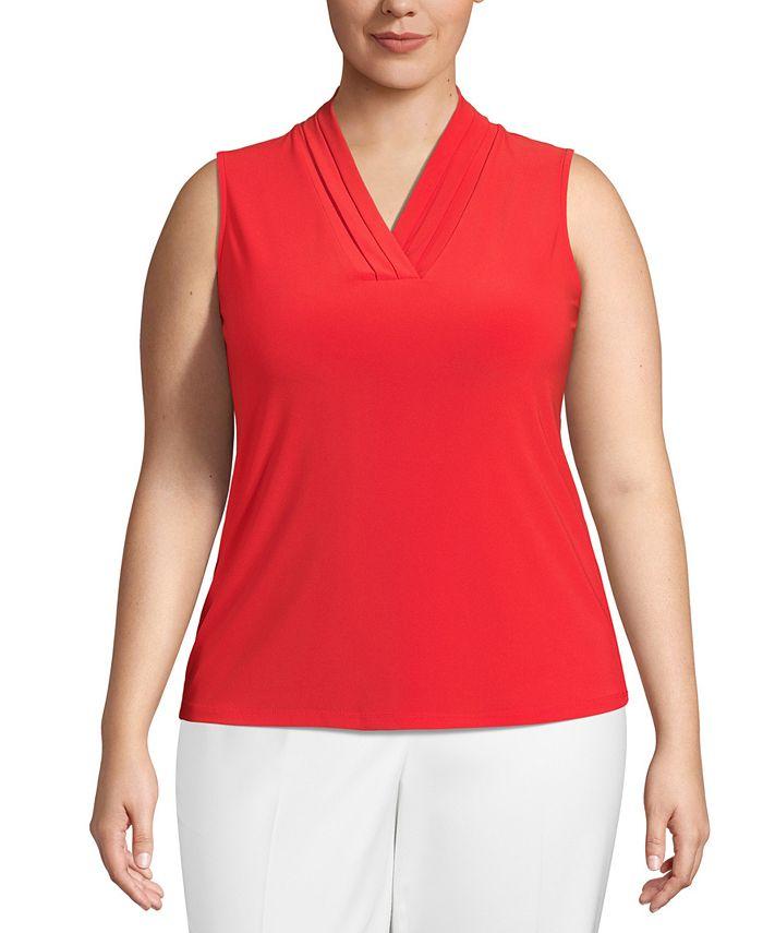 Anne Klein - Plus Size V-Neck Sleeveless Top