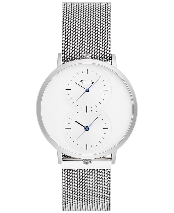Uri Minkoff - Men's Griffith Stainless Steel Mesh Bracelet Watch 43mm