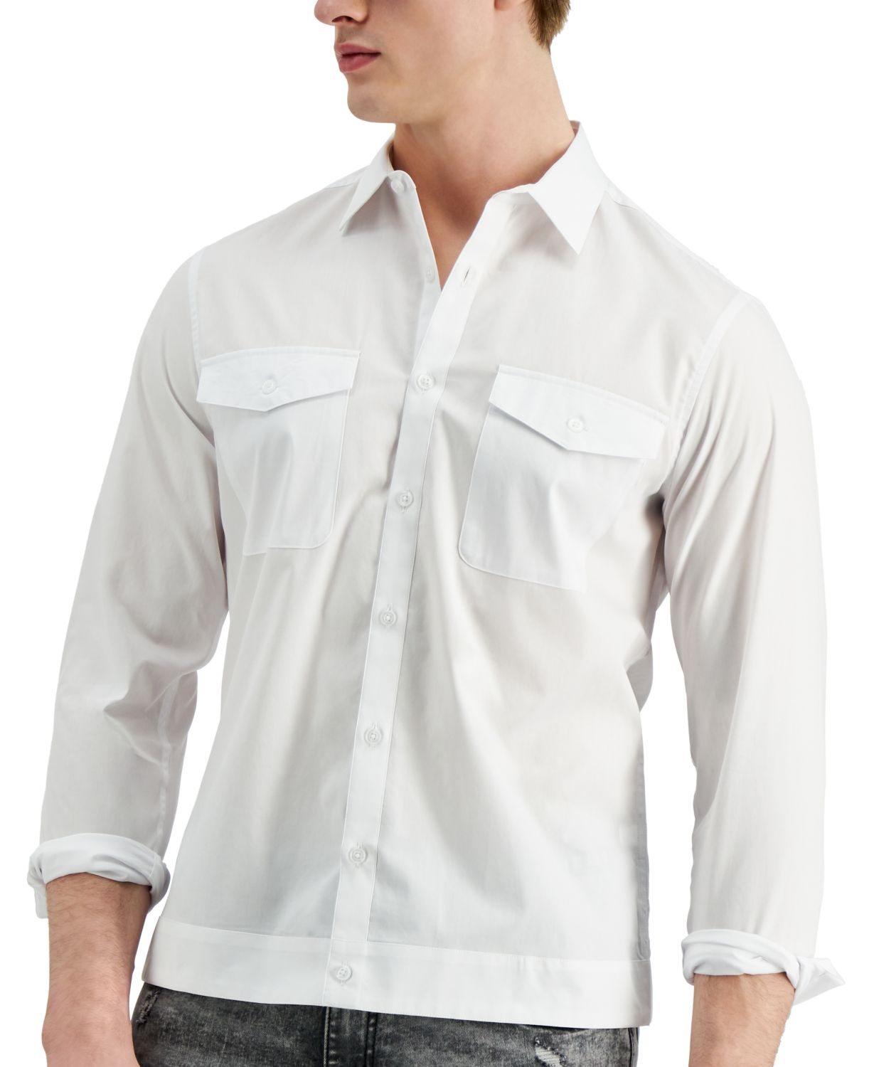 INC International Concepts Allen Onyia for INC Men's Button-Down Shirt, Created for Macy's & Reviews - Casual Button-Down Shirts - Men - Macy's