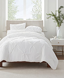 Serta Simply Clean Antimicrobial Pleated King Duvet Set,3 Piece