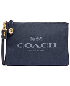 COACH Turnlock Pouch 26 With Horse And Carriage