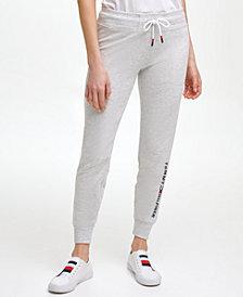 Tommy Hilfiger Sport Women's Logo Jogger with Rib Cuff