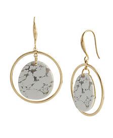 Robert Lee Morris Soho Stone Orbital Drop Earrings