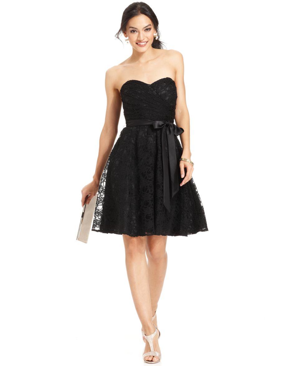 Marina Sleeveless Illusion Lace Dress   Dresses   Women