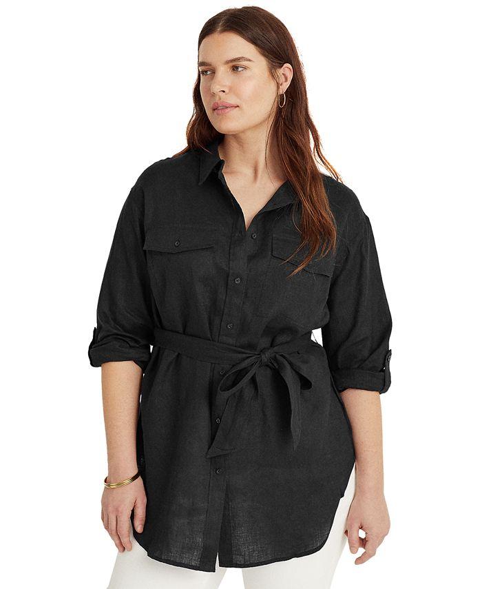 Lauren Ralph Lauren - Plus Size Buttoned Linen Top